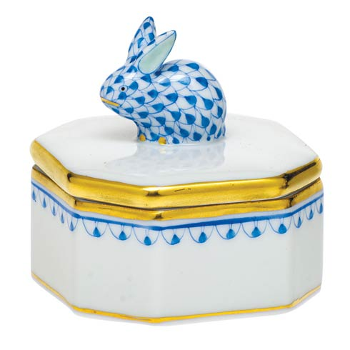 $135.00 Petite Octagonal Box with Bunny
