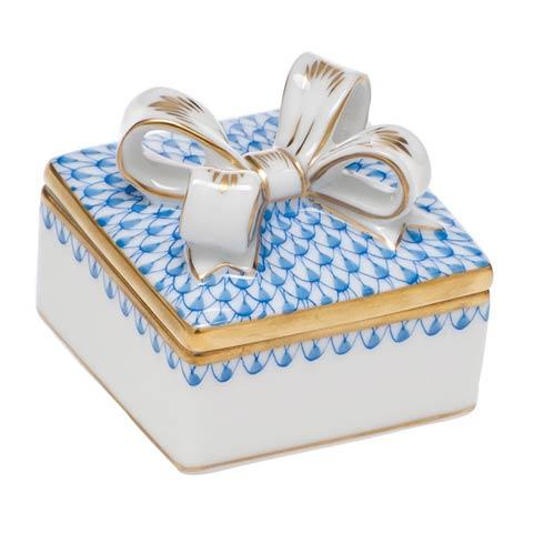 $185.00 Box with Bow - Blue