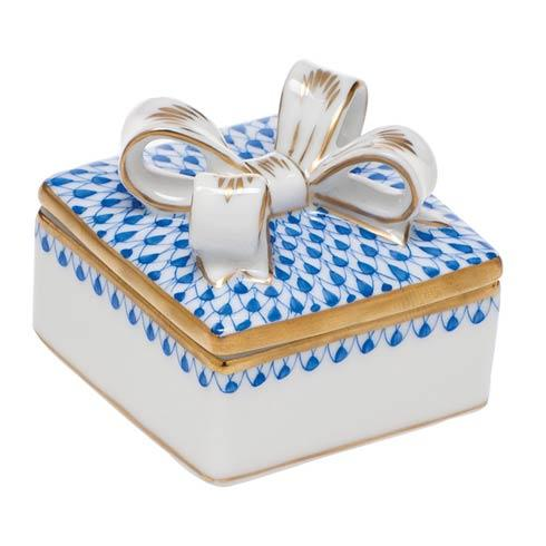 $185.00 Box with Bow - Sapphire