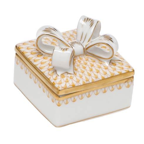 $185.00 Box with Bow - Butterscotch