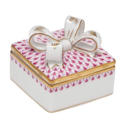 $185.00 Box with Bow - Raspberry
