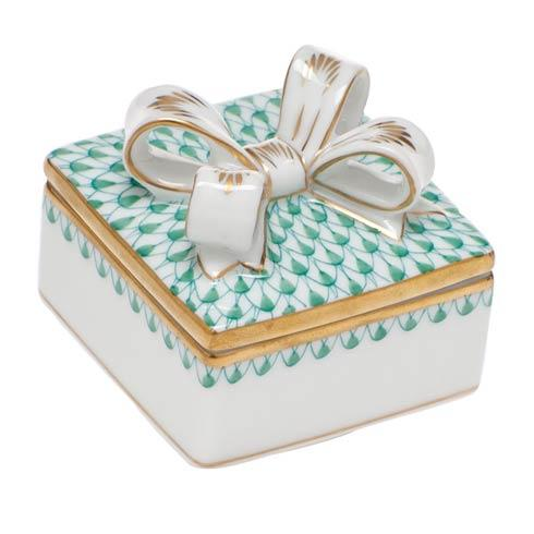 Box with Bow - Green