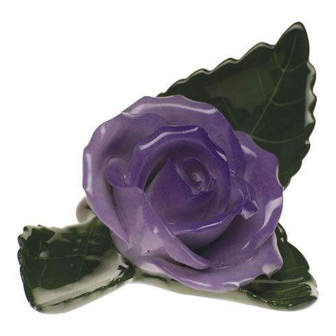 Herend Home Accessories Placecard Holders Rose On Leaf - Lavender $60.00