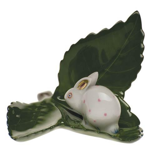 Rabbit On Leaf