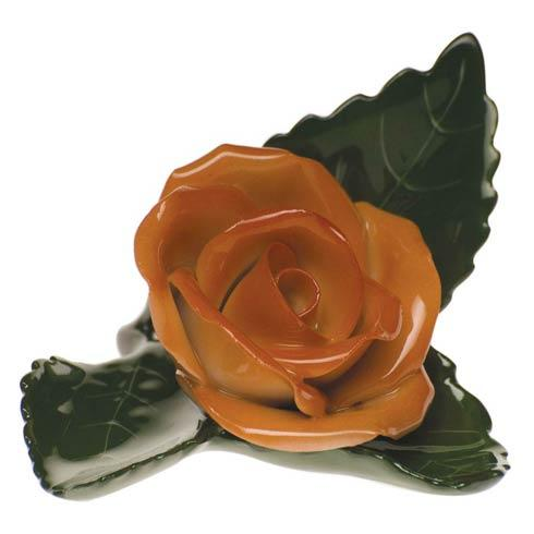 Herend Home Accessories Placecard Holders Rose On Leaf - Rust $60.00