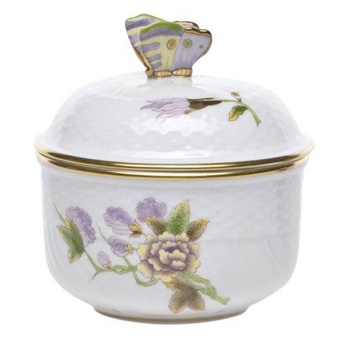 Herend  Royal Garden Cov Sugar W/Butterfly $235.00