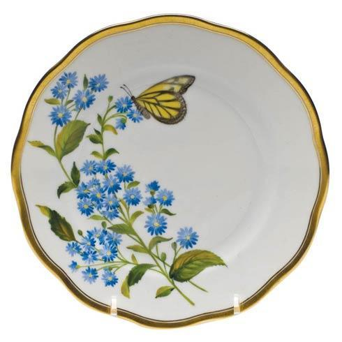 Herend  American Wildflower Bread & Butter Plate - Blue Wood Aster $225.00
