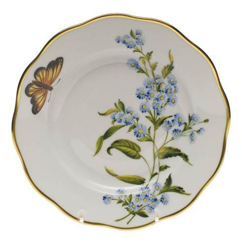 Herend  American Wildflower Salad Plate - Blue Wood Aster $235.00