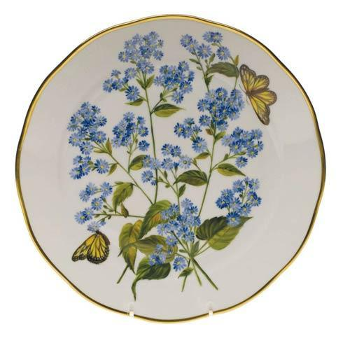 Herend  American Wildflower Dinner Plate - Blue Wood Aster $400.00