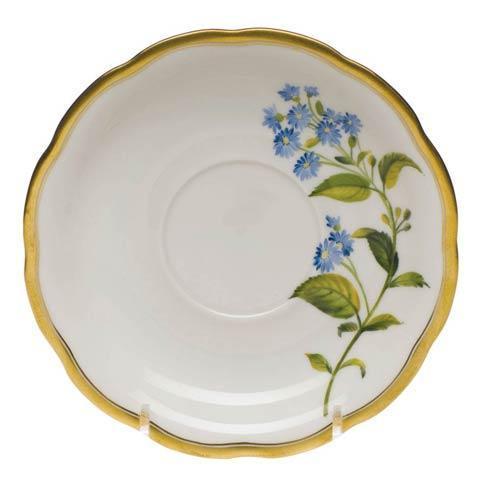 $110.00 Tea Saucer - Blue Wood Aster
