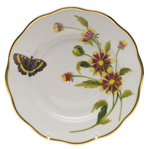 Herend American Wildflower Indian Blanket Salad Plate $235.00