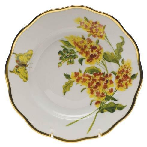 Herend  American Wildflower Salad Plate - Butterfly Weed $235.00