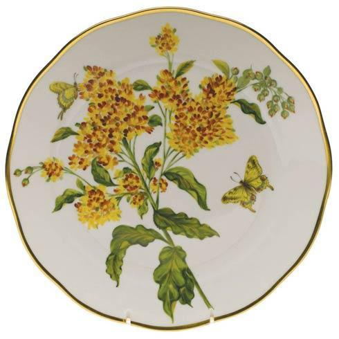 Herend  American Wildflower Dinner Plate - Butterfly Weed $400.00