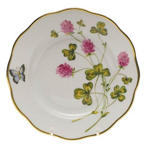 Herend American Wildflower Red Clover Salad Plate $235.00