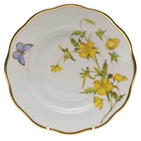 Herend American Wildflower Evening Primrose Salad Plate $235.00