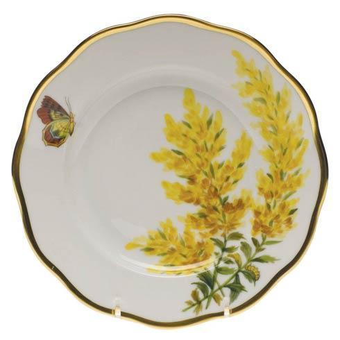 Herend American Wildflower Tall Goldenrode Salad Plate $235.00