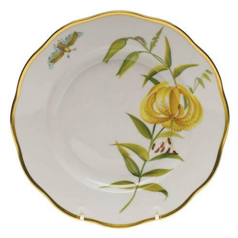 Herend American Wildflower Meadow Lily Salad Plate $235.00