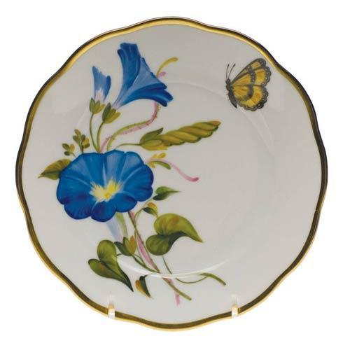 Herend  American Wildflower Bread & Butter Plate - Morning Glory $225.00