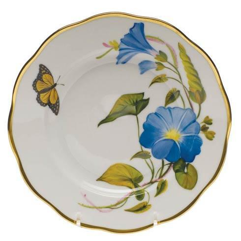 Herend  American Wildflower Salad Plate - Morning Glory $235.00