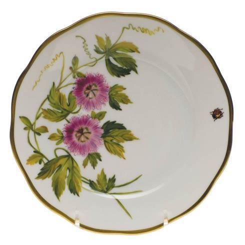 Herend  American Wildflower Bread & Butter Plate - Passion Flower $225.00