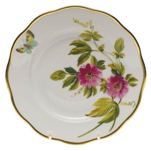 Herend  American Wildflower Salad Plate - Passion Flower $235.00