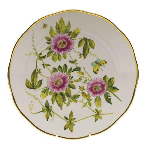 Herend  American Wildflower Dinner Plate - Passion Flower $400.00