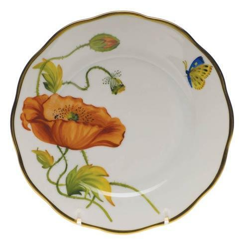 Herend  American Wildflower Bread & Butter Plate - California Poppy $225.00