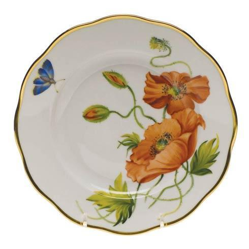 Herend  American Wildflower Salad Plate - California Poppy $235.00