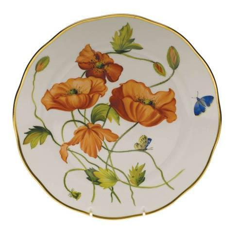Herend  American Wildflower Dinner Plate - California Poppy $400.00