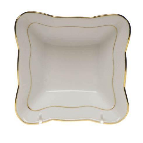 Herend  Golden Edge Small Square Dish $125.00