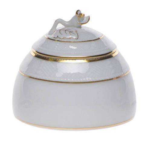 Herend  Golden Edge Honey Pot W/Rose $45.00