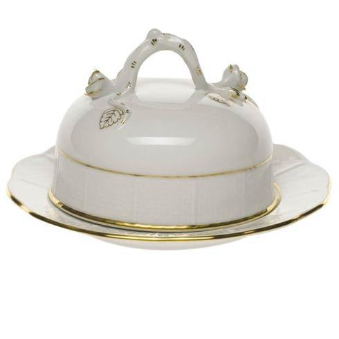 Herend Collections Golden Edge Cov Butter Dish $145.00