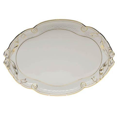 Herend  Golden Edge Ribbon Tray $275.00