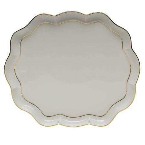 Herend  Golden Edge Scallop Tray $190.00