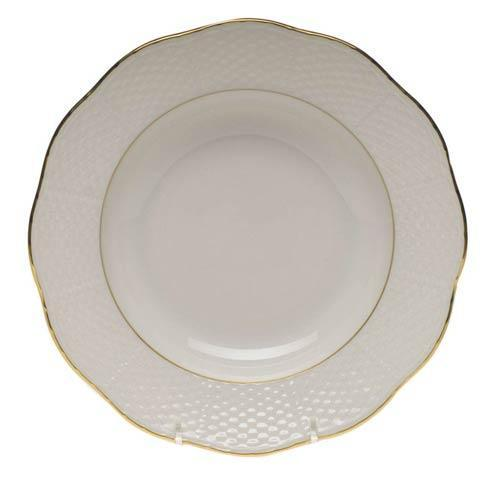 Herend  Golden Edge Rim Soup Plate $70.00