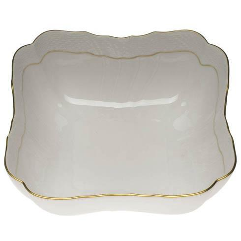 Herend  Golden Edge Square Salad Bowl  1 $275.00