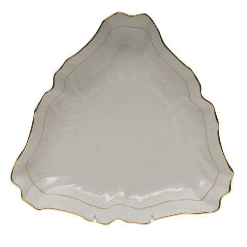 Herend  Golden Edge Triangle Dish $145.00