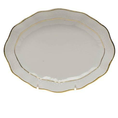 Herend  Golden Edge Small Oval Dish $80.00