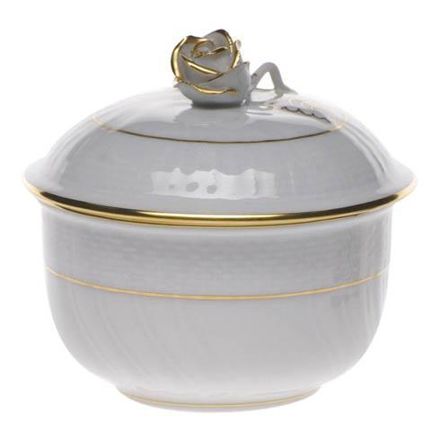 Herend Collections Golden Edge Cov Sugar W/Rose $80.00