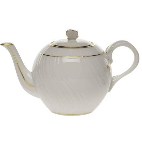Herend Collections Golden Edge Tea Pot W/Butterfly $100.00