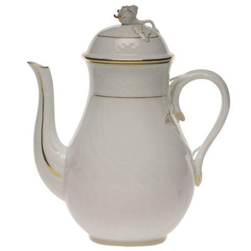 Herend  Golden Edge Coffee Pot W/Rose $210.00