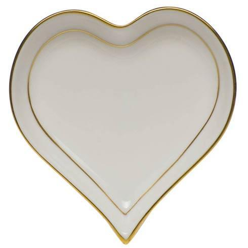Herend  Golden Edge Small Heart Tray $70.00