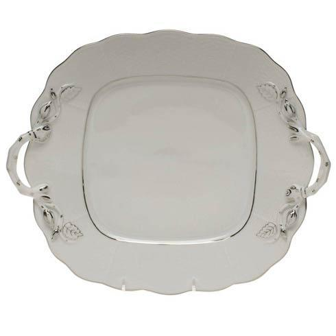 $225.00 Square Cake Plate W/Handles