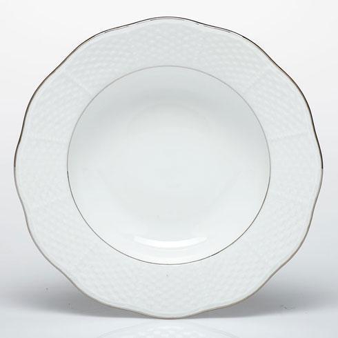 Herend  Platinum Edge Rim Soup Plate $70.00