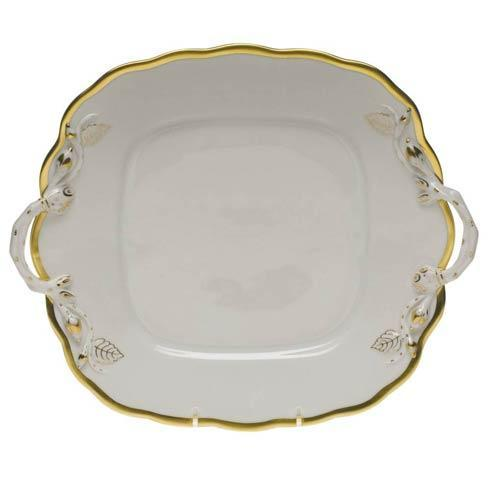 Herend Collections Gwendolyn Square Cake Plate W/Handles $310.00