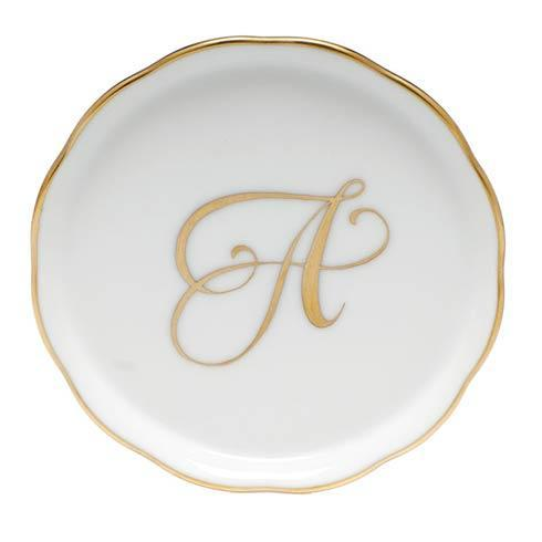 Herend Home Accessories Monogram Coasters - Gold Monogram Coaster – A $25.00
