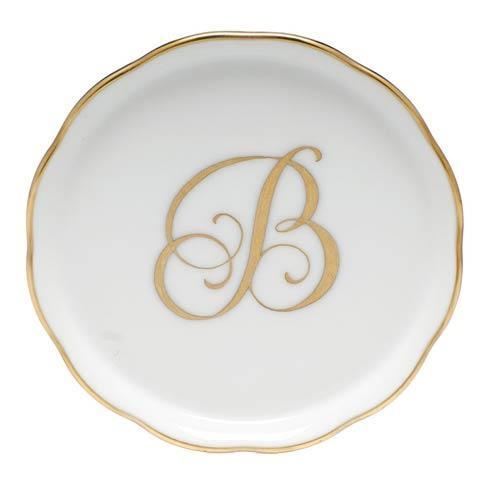 Herend Home Accessories Coasters Monogram Coaster - B $30.00