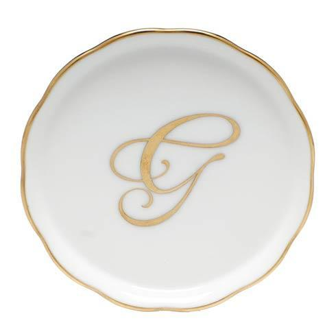 Herend Home Accessories Monogram Coasters - Gold Monogram Coaster - G $25.00