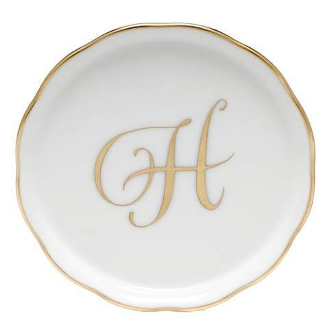 Herend Home Accessories Monogram Coasters - Gold Monogram Coaster - H $25.00