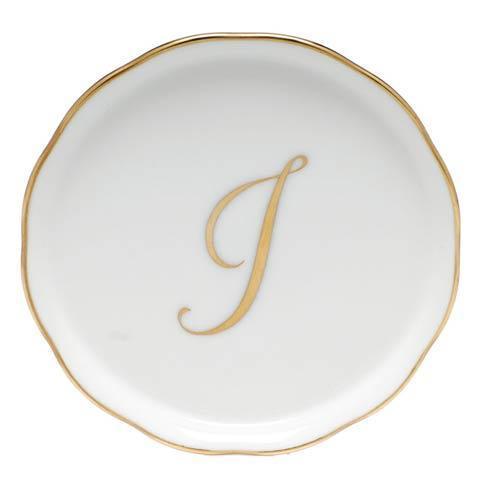 Herend Home Accessories Monogram Coasters - Gold Monogram Coaster - I $25.00